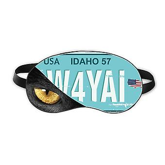 American Usa Car Licence Plate Number Eye Head Rest Dark Cosmetology Shade Cover