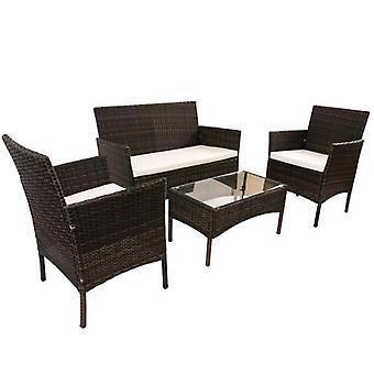 Rotan meubelset voor buitentuin