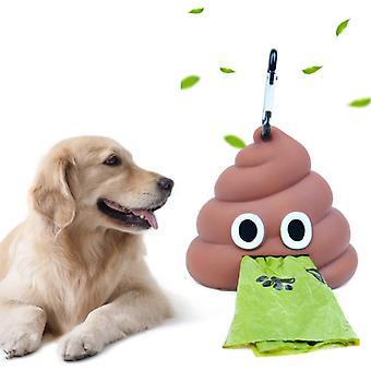Sopsäcksautomat, bajspåse förvaringslåda, bärbar mjuk silikon för husdjur ut