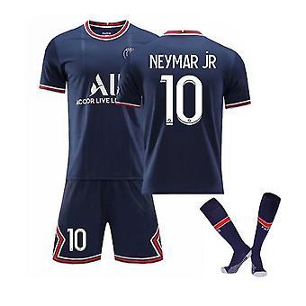 Neymar Jr 10 Jersey Home 2021-2022 New Season Men's Paris Soccer T-shirts Jersey Set
