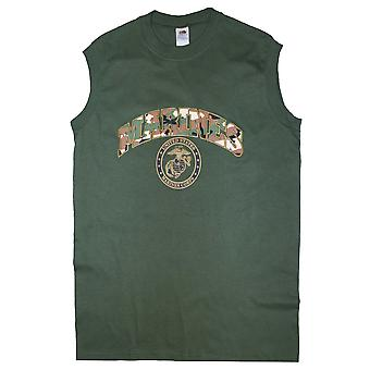 Cool New Print Sleeveless Muscle T Shirt