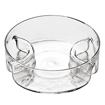 3 Abschnitt Glas servieren Teller Bowl rund