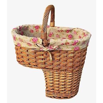 Rose Lined Stair Basket