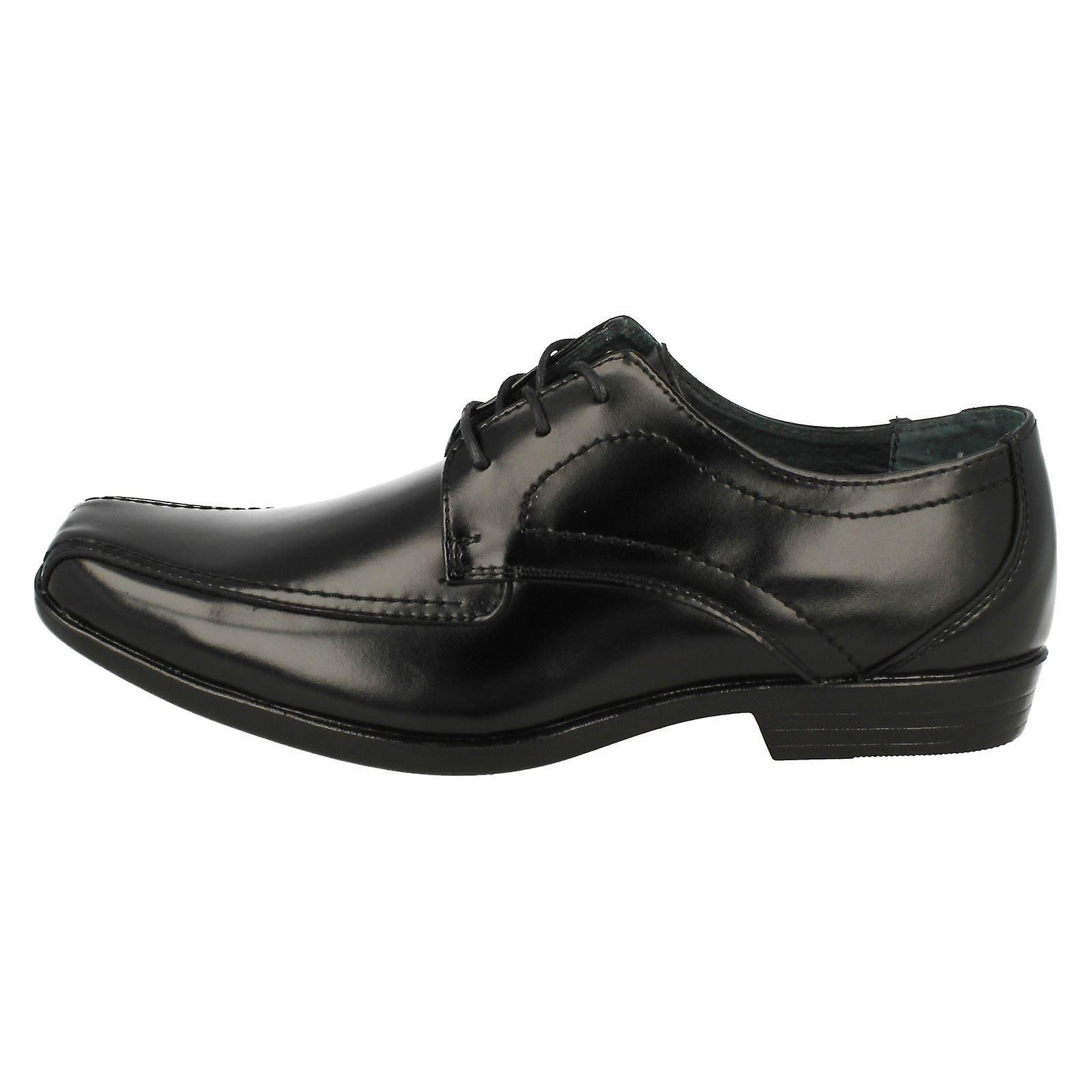 Mens Hush Puppies Easton Ralston Black Leather Lace Up Shoes