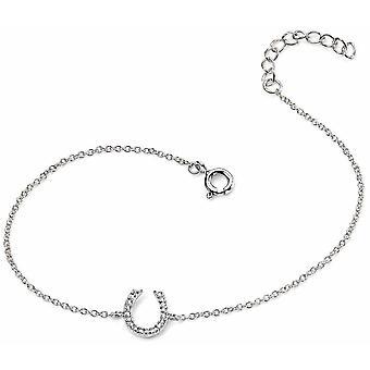 925 zilveren ijzeren deur geluk paard armband