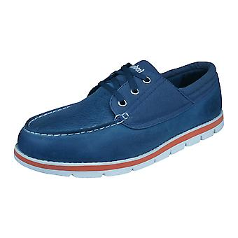 Timberland Earthkeepers Harborside 3Eye Mens Boat Shoes - Blue