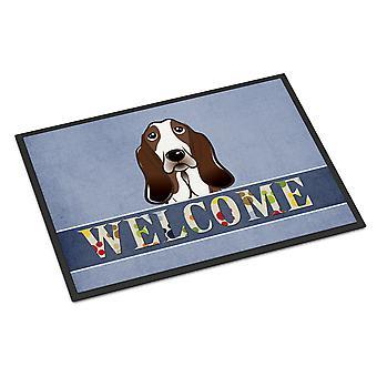 Carolines schatten BB1429JMAT Basset Hound Welkom Indoor of Outdoor Mat 24 x 36