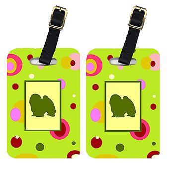 Carolines Treasures  CK1103BT Pair of 2 Japanese Chin Luggage Tags