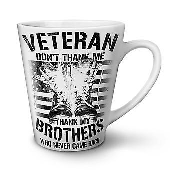 Thank My Brothers Slogan NEW White Tea Coffee Ceramic Latte Mug 12 oz | Wellcoda