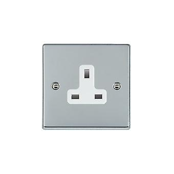 Hamilton Litestat Hartland Bright Chrome 1g 13A Unswitched Socket WH