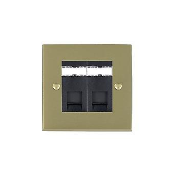 ハミルトン Litestat ・ チェリトン ビクトリア サテン黄銅 2 g RJ45 CAT5E シールド BL