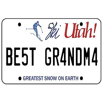 Utah - Best Grandma License Plate Car Air Freshener