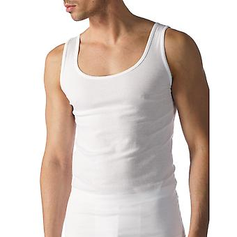 Mey 49100-101 mannen Casual katoenen witte effen kleur Tank Vest Top