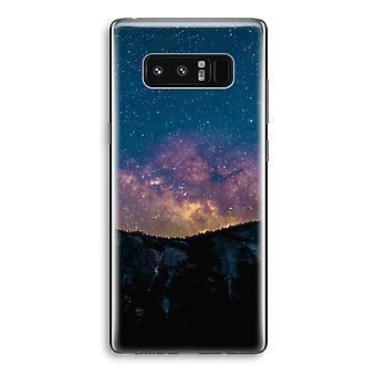 Samsung Galaxy Note 8 gjennomsiktig Case (myk) - reise til space