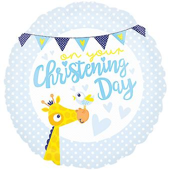 Anagram 18 Inch Christening Day Circle Foil Balloon
