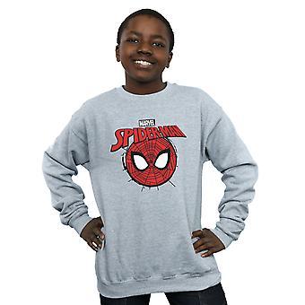 Marvel Boys Spider-Man Logo Head Sweatshirt
