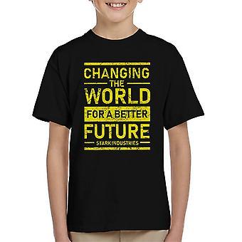 IJzeren Man schril industrieën de wereld te veranderen voor een betere toekomst Kid's T-Shirt