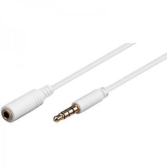 Goobay Universal Audio extension cable 2 m 3, 5 mm jack plug