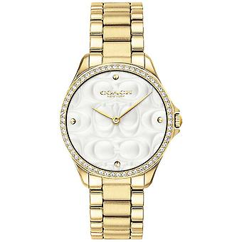 Coach Womens Modern Sport In Gold 14503071 Watch