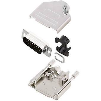 Tira de pin MH MHDTZK15-DB15P-K de conectores D-SUB conjunto 180 ° número de pernos: 15 soldadura cubo 1 PC