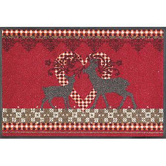 lavage + tapis sec de 50 x 75 cm jolie cerfs lavable style campagnard