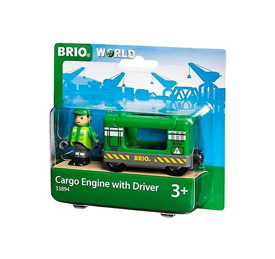 BRIO Cargo Engine with Driver 33894 for Wooden Train Set