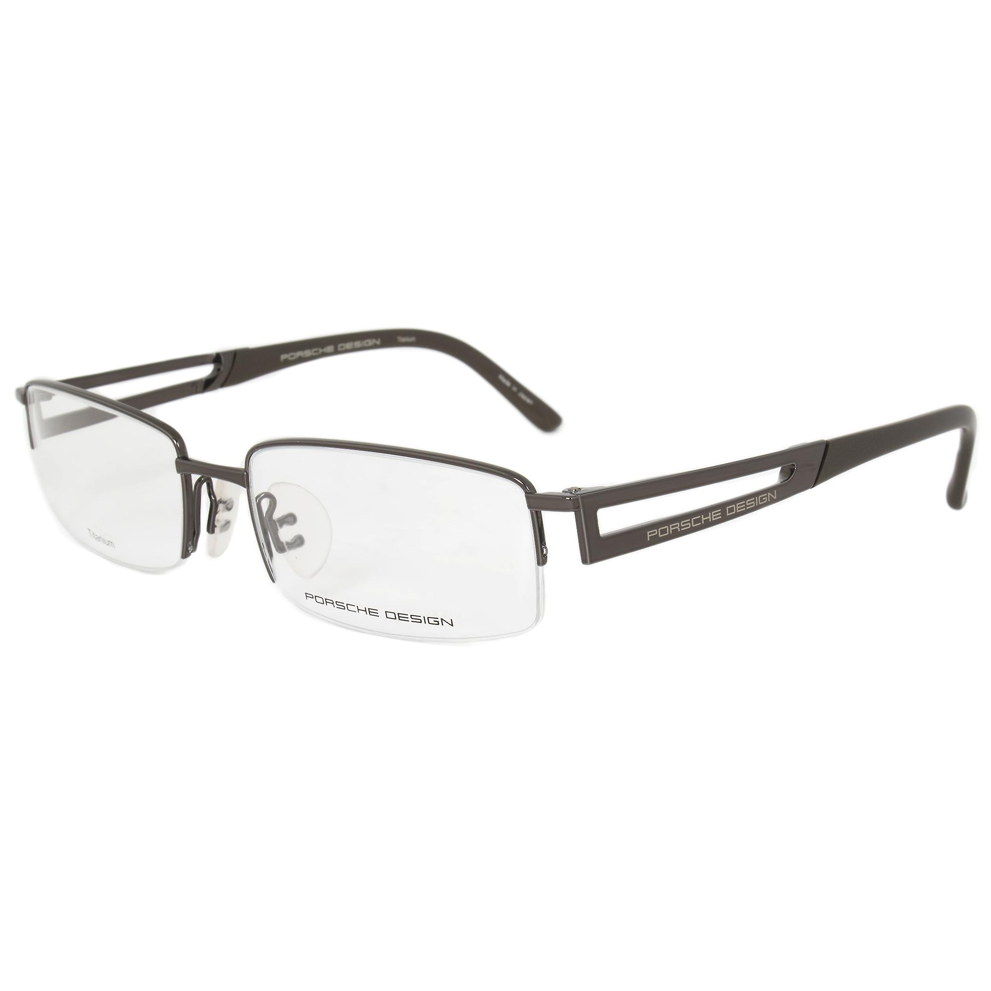 Porsche Design P8703 D Rectangular | Dark Brown| Eyeglass Frames