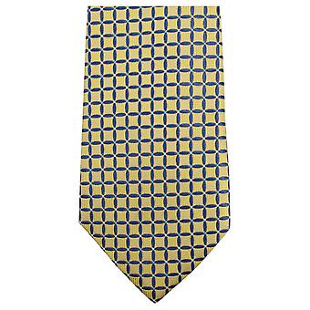 Knightsbridge Neckwear Geometric Tie - Yellow/Blue