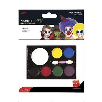 Carnival make-up 7 colors makeup face Schminke