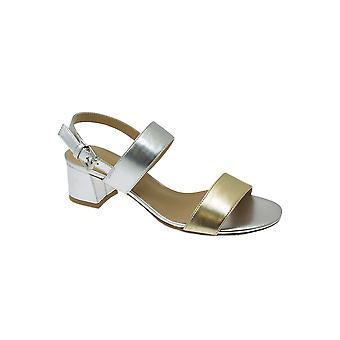 JLE064 Collins Mesdames rembourré bloc talon Fashion métalliques Strappy Sandals