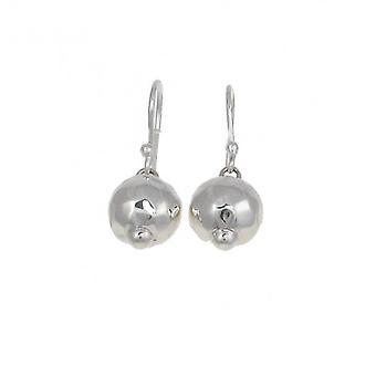 Cavendish French Sterling Silver Shiny Beaten Bauble Earrings