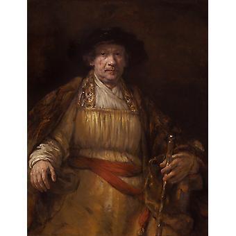 Selbstporträt, Rembrandt van Rijn, 50x40cm