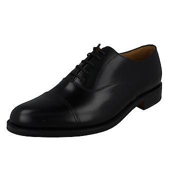 Hombre Loake pulido Elland elegante zapatos de cuero