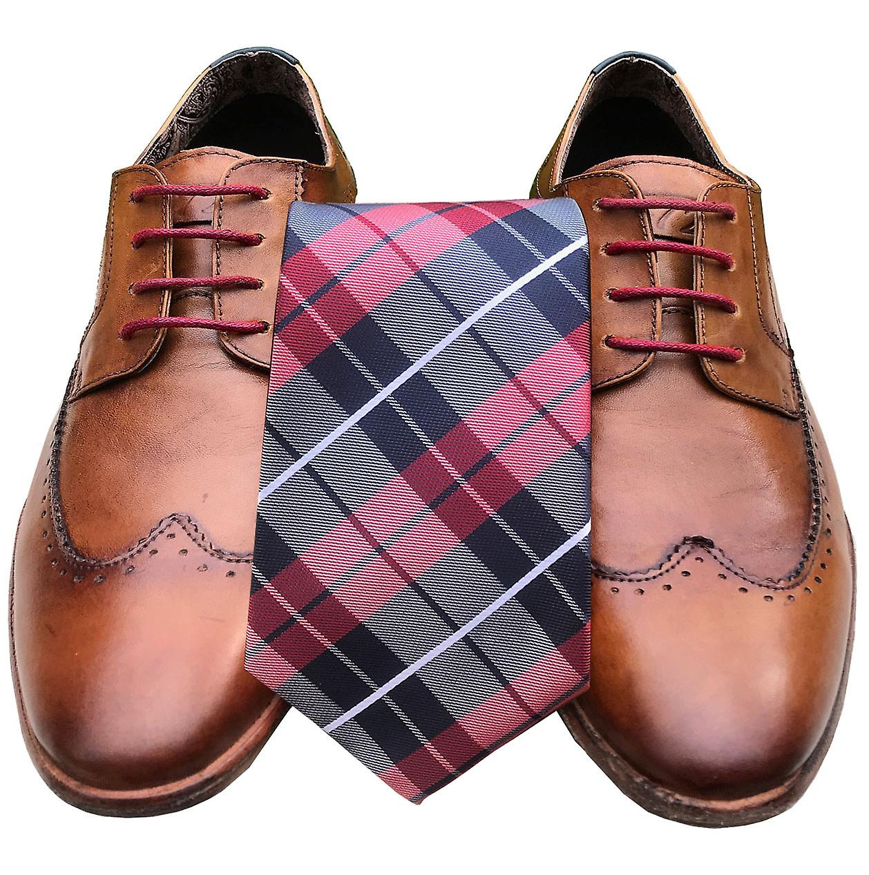 Red Check Set Laces