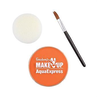 O Aqua maquiagem laranja 15 com escova + esponja