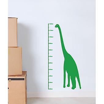Dinosaur hoogte grafiek muur Sticker