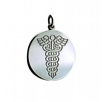 Silver 25mm round medical alarm Disc