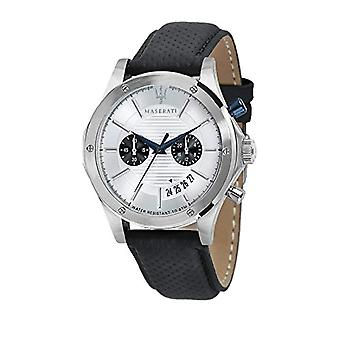 MASERATI watch chronograph quartz men's watch with leather R8871627005