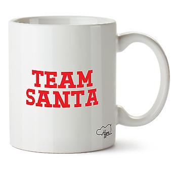 Hippowarehouse Team Santa trykt krus Cup keramiske 10 Unzen