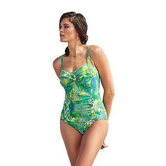Susa 4279-016 Women's Underwater Art Green Costume One Piece Swimsuit