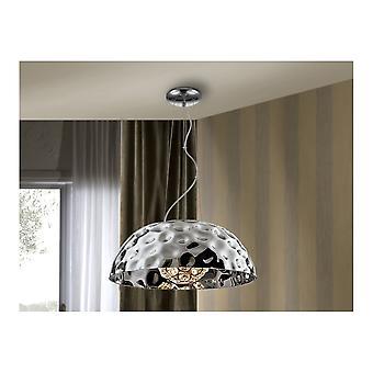 Schuller Modern Chrome Dome Ceiling Pendant 5 Light