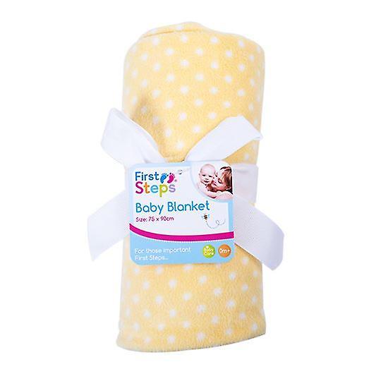 First Steps Light Weight Printed Fleece Baby Blanket  75 x 90 cm FS628