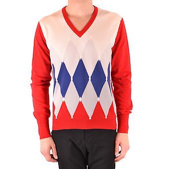 Ballantyne Ezbc099038 Men's Red Cashmere Sweater