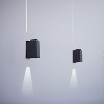 LuTec Evans 6W minimalista Exterior LED arriba y abajo de la lámpara de pared de grafito