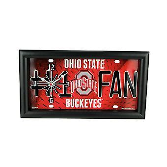 NCAA Ohio State Buckeyes nummer 1 fan licentie plaat mantel of Wandklok