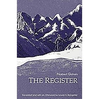 Register by Norbert Gstrein - Lowell A. Bangerter - 9781572410121 Book