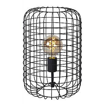 Lucide Esmee Modern Cylinder Metal Black Table Lamp