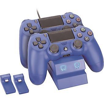 Twin dockningsstation-blå (PS4)