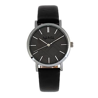Sophie and Freda Budapest Leather-Band Watch - Black
