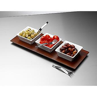 Décrivez Appetiser Bowl, Tray and Fork Set